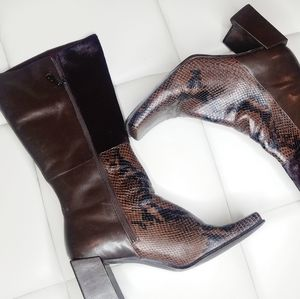 Snakeskin & Fur( like) Calf Boots